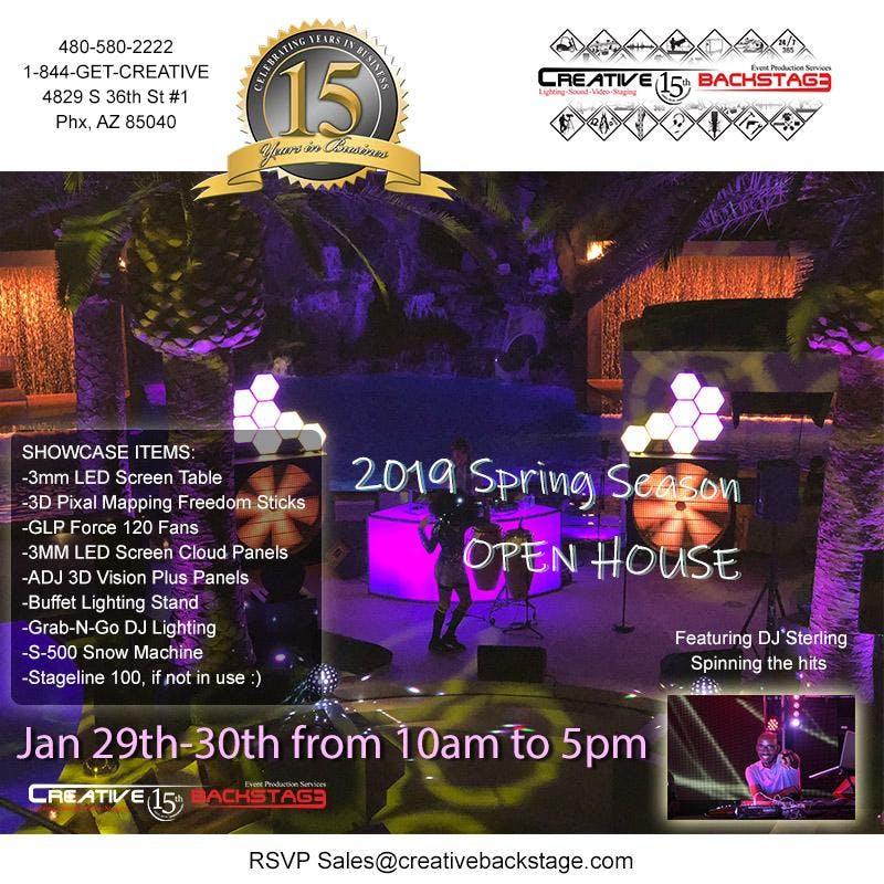 2019 Spring Season Open House at Creative BackStage