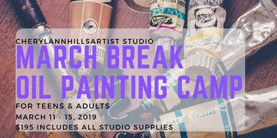 March Break Oil Painting Camp in Hamilton, March 11 to 15 - Morning Session