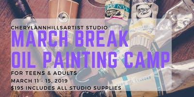 March Break Oil Painting Camp in Hamilton, March 11 to 15 Afternoon Session
