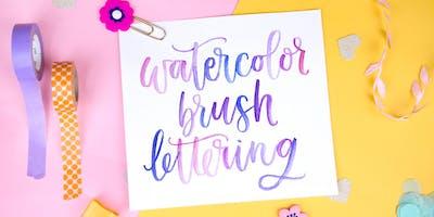 Learn Watercolor Brush Lettering