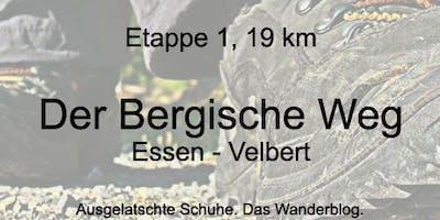 Der Bergische Weg - Etappe 1: Von Essen bis Velbert (ca. 19 km)