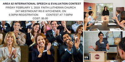 Area 62 International Speech and Evaluation Contest