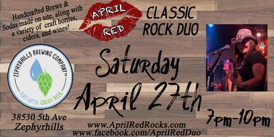 April Red ROCKS The Zephyrhills Brewing Company!