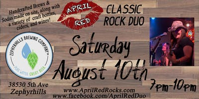 April Red is BACK to ROCK the Zephyrhills Brewing Company!