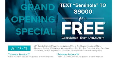 Free Adjustments for the Grand Opening of The Joint Chiropractic