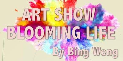 Art show at Cary Senior Center - Blooming Life