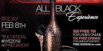 CHAMPAGNE ROOM • ALL-BLACK • 500 FREE TICKETS FOR THE LADIES • DRINK FREE
