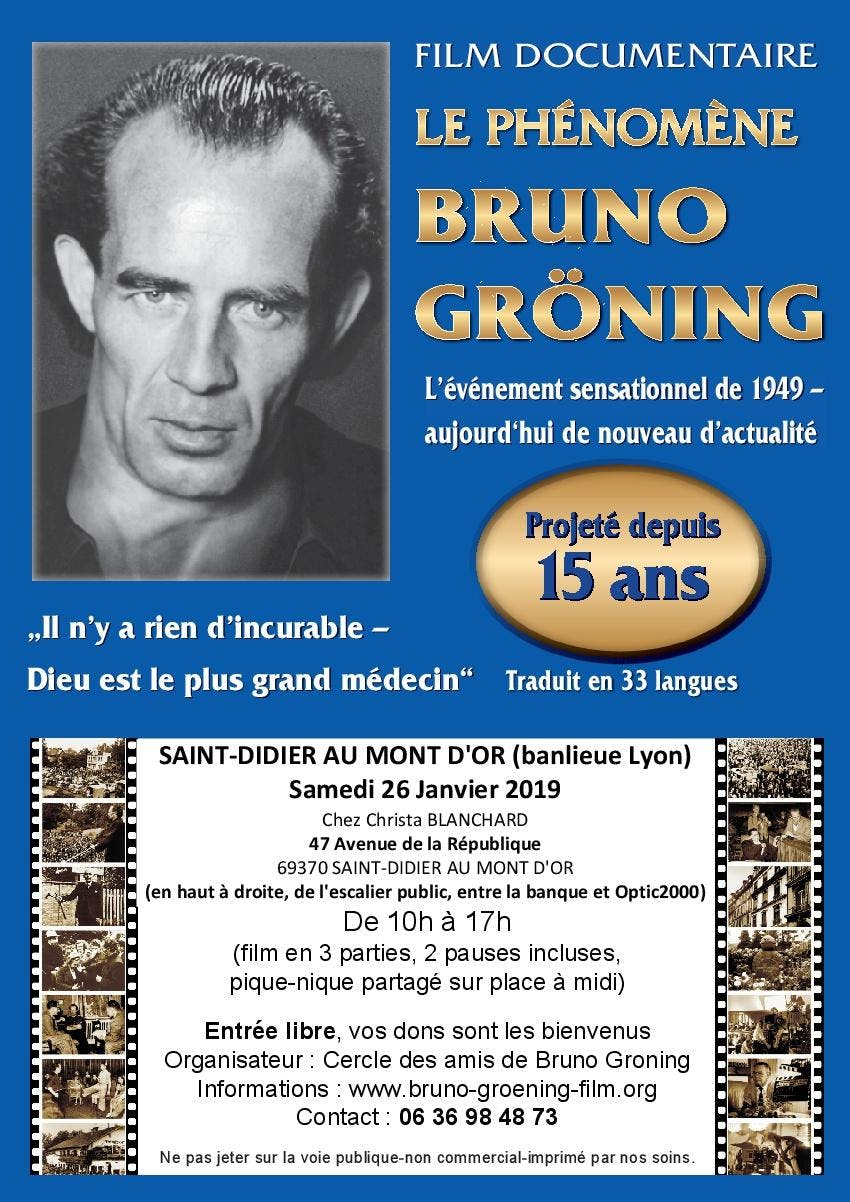"Film documentaire ""Le phénomène Bruno Groning"