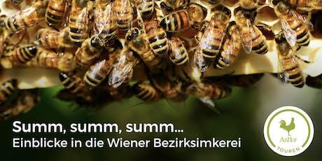 Summ, summ, summ - Einblicke in die Wiener Bezirksimkerei bei der AbHof-Tour Tickets