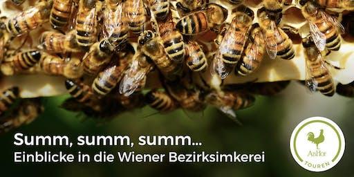 Summ, summ, summ - Einblicke in die Wiener Bezirksimkerei bei der AbHof-Tour