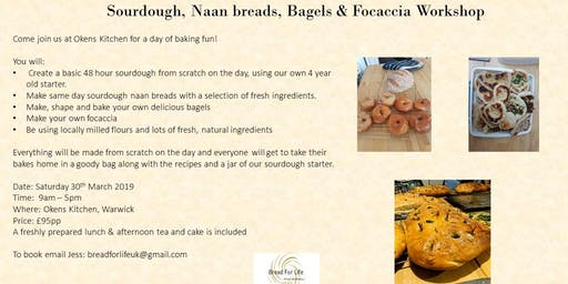 Sourdough with Naan breads, Bagels, & Focaccia