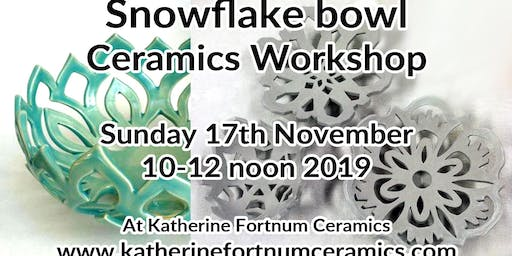 Snowflake bowl Christmas ceramics workshop