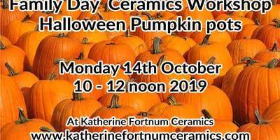 Pumpkin pots family day ceramics workshop