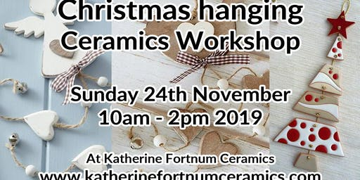 Christmas hanging ceramics workshop