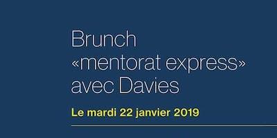 Brunch «mentorat express» Davies - Université de Montréal