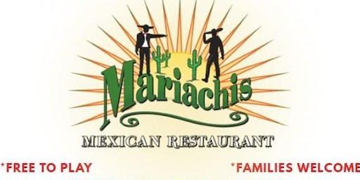 MUSIC BINGO! at MARIACHI'S MEXICAN RESTAURANT