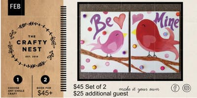 """Me & My Pal"""" Valentine Inspired Paint Event"""