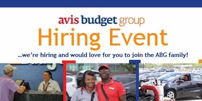 Avis Budget Group Hiring Event - Now Hiring Sales Counter Representatives!