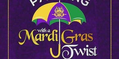 Sip & Paint with a Mardi Gras Twist
