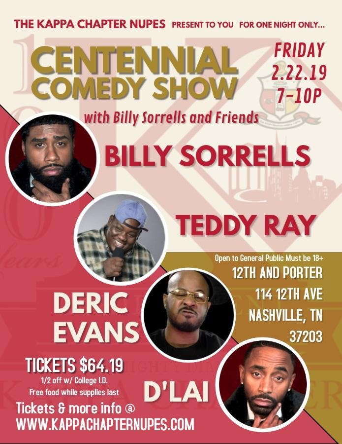 Centennial Comedy Show w Billy Sorrells and Friends