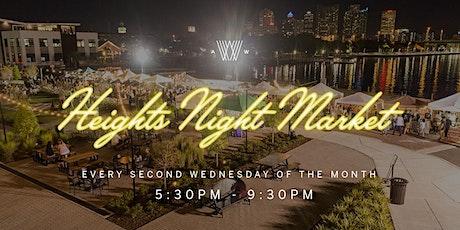 Heights Night Market Vendor Application - 2018/2019 tickets