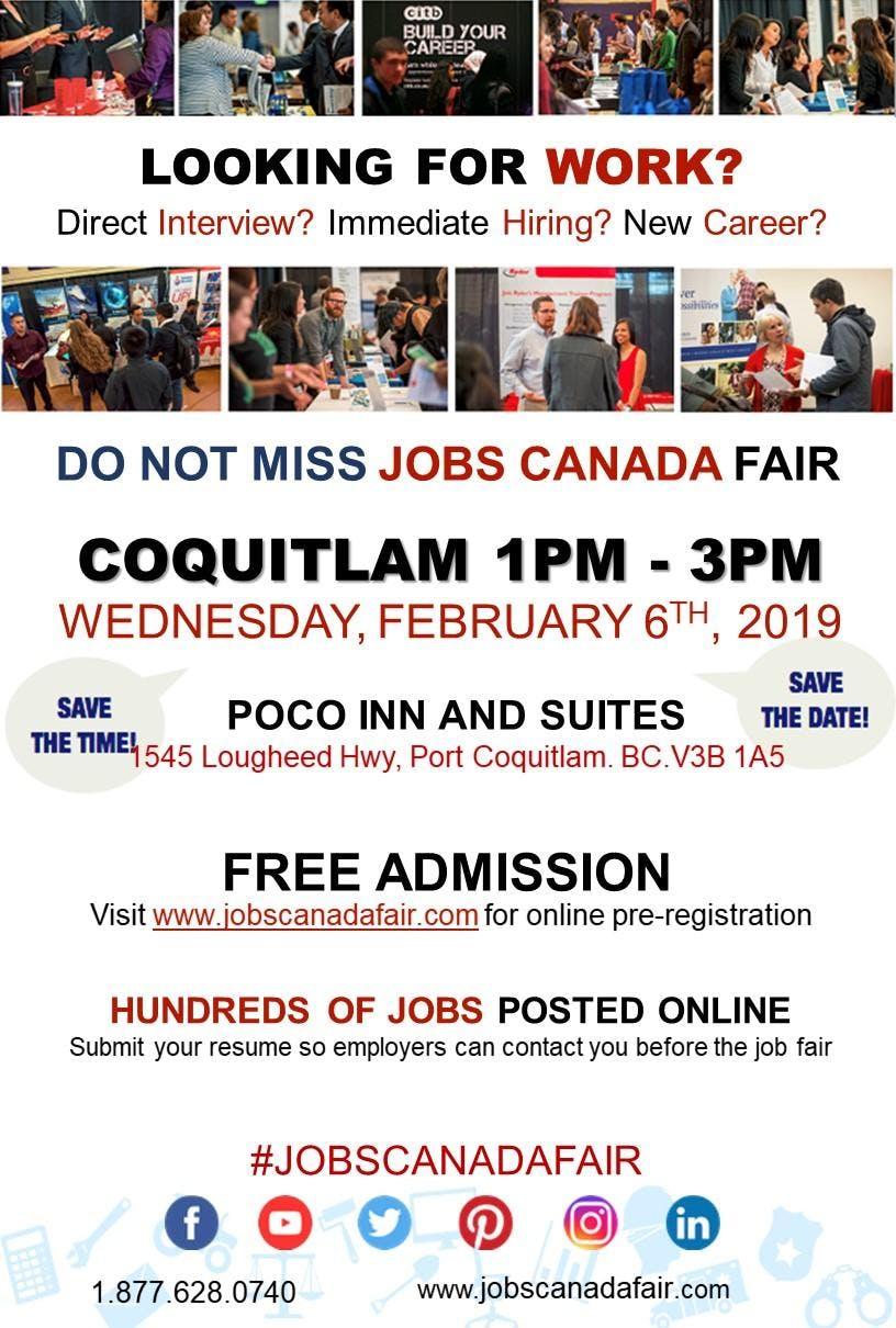 Coquitlam Job Fair – February 6th, 2019