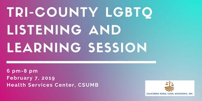 Tri-County LGBTQ Listening and Learning Session