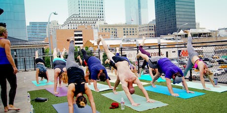 Yoga & Mimosas - Outdoor rooftop, downtown tickets