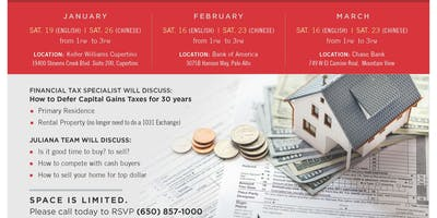 Juliana Lee's complimentary real estate seminar - How to Defer Capital Gains Taxes for 30 years