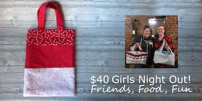 Sip N Sew: Valentine's Day Reuseable Bag