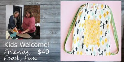 Sip N Sew Spokane Valley: Drawstring Backpack