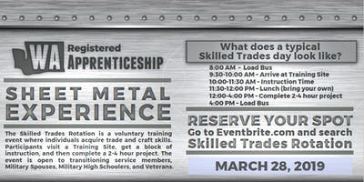Sheet Metal Hands on Experience (Skilled Trades Rotation)