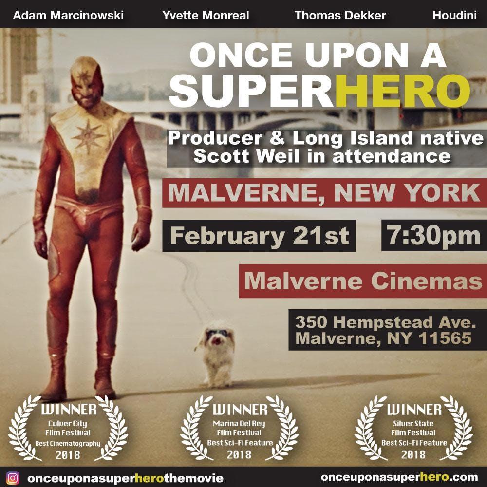 ONCE UPON A SUPERHERO  MALVERNE CINEMA FEB 21