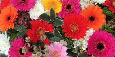 Designing with colour.  A lot of colour! - Floristry Workshop
