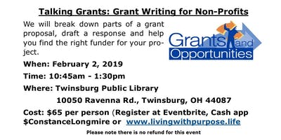 Talking Grants: Grant Writing for Non-Profits - Twinsburg