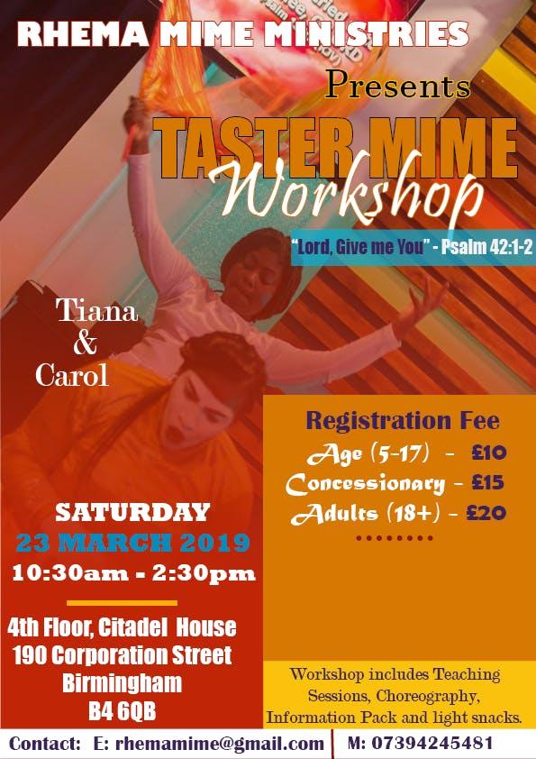 """Gospel Mime Taster Workshop - """"Lord, Give Me"""