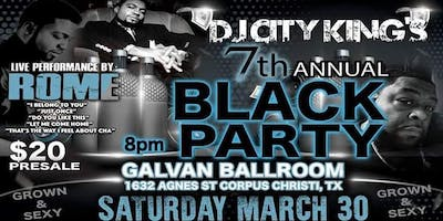 Dj City King's 7th annual BLACK PARTY ft ROME