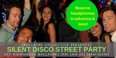 Silent Disco Street Party at Viewhouse Ballpark