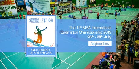 11th MBA International Badminton Championships 2019 tickets