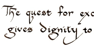 Beginning Calligraphy with Carolyn Mcpherson
