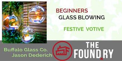 Beginner Glass Blowing - Winter Votives