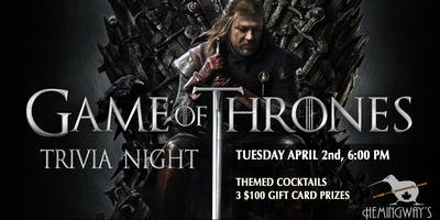Game of Thrones Trivia 2.1 (first night)