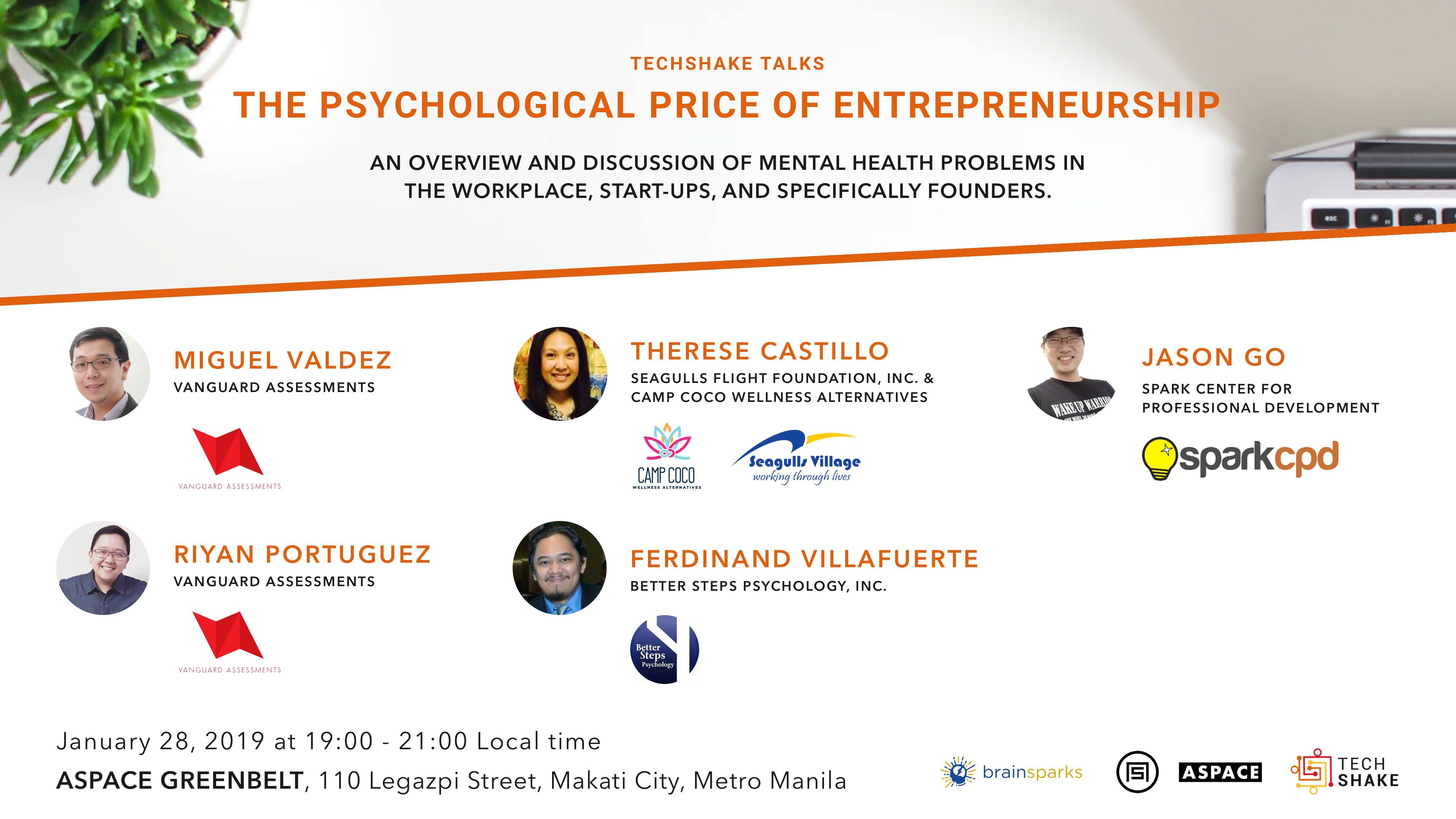 TechShake Talks: The Psychological Price of Entrepreneurship