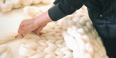 Chunky Knit Merino Wool Blanket