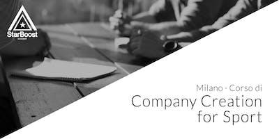 Trasforma la tua passione in un'azienda di successo, Company Creation for Sport [Milano]