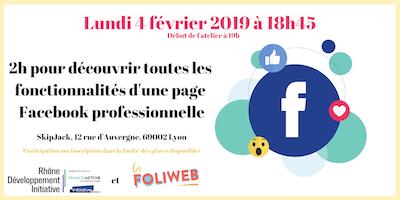 Atelier RDI et Foliweb : 2h pour découvrir Facebook Professionnelle