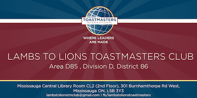 Toastmasters International Program at Mississauga Central Library