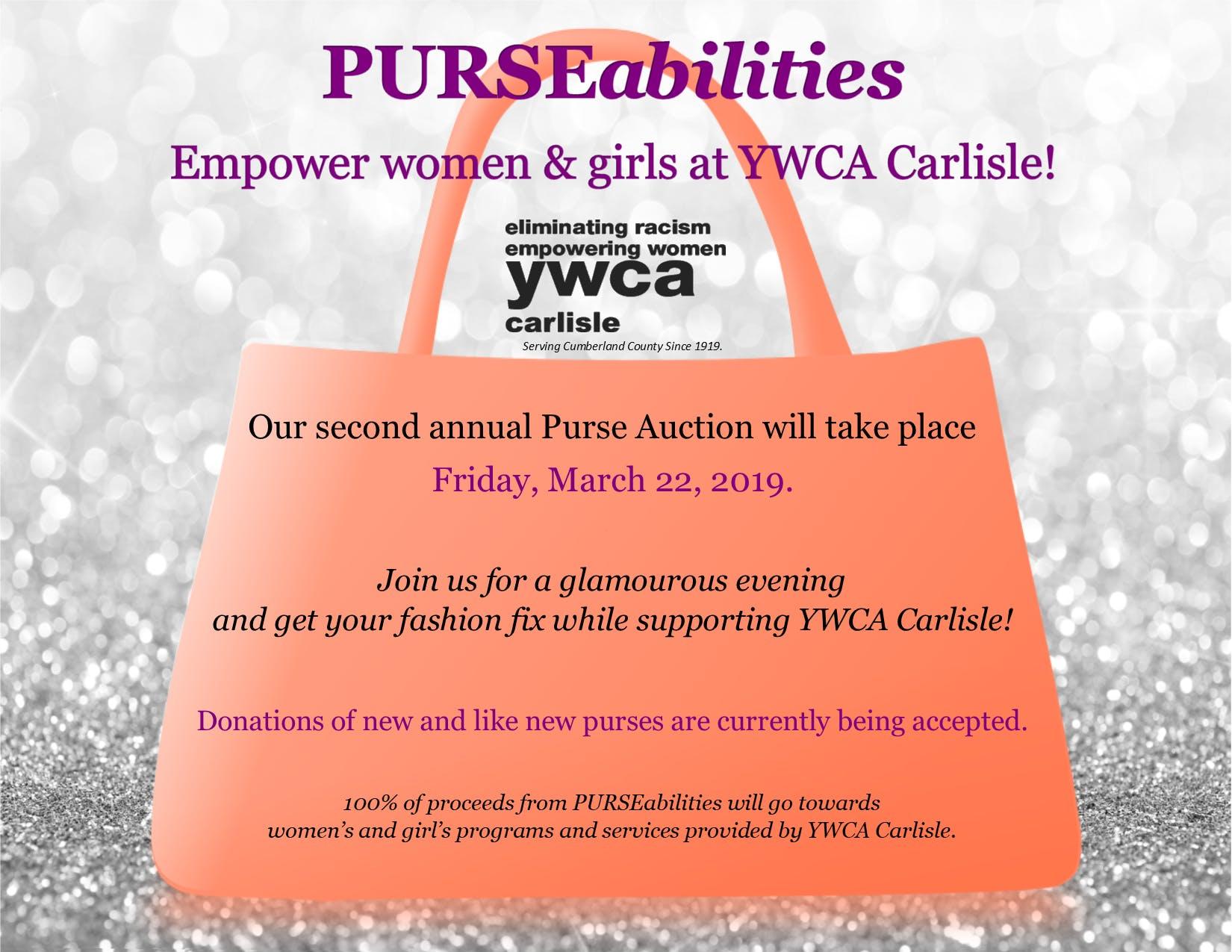 PURSEabilities:  Empower Women & Girls at YWCA Carlisle!
