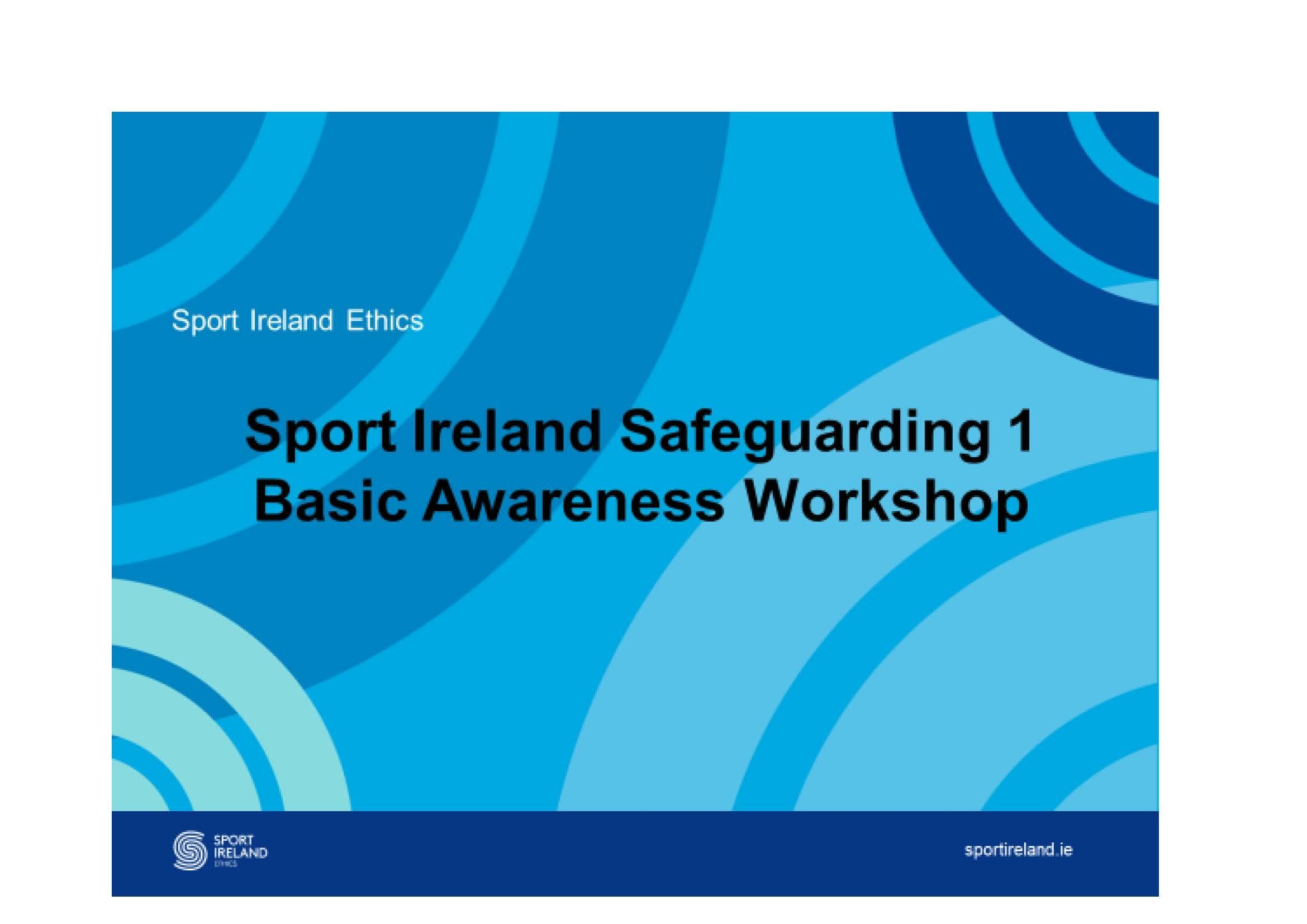 Safeguarding 1, Child Protection in Sport, 30.05.19