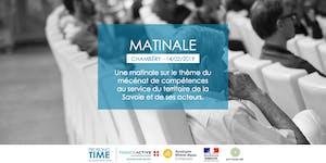 """Matinale à Chambéry : """"Le mécénat de compétences au..."""
